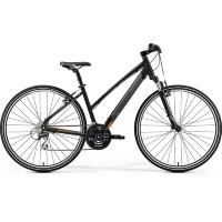 Велосипед Merida Crossway 20-V Lady MattBlack (Orange) 2019